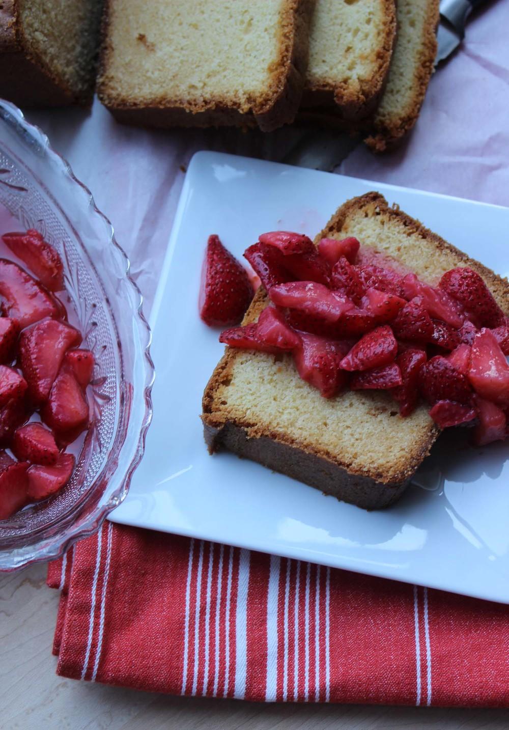 Honey Vanilla Pound Cake with Strawberries | Image: Laura Messersmith