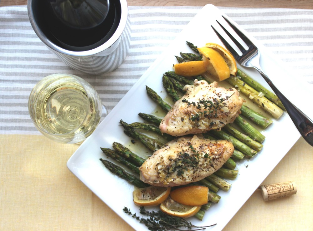 Lemon Chicken with Roasted Asparagus  | Image:  Laura Messersmith