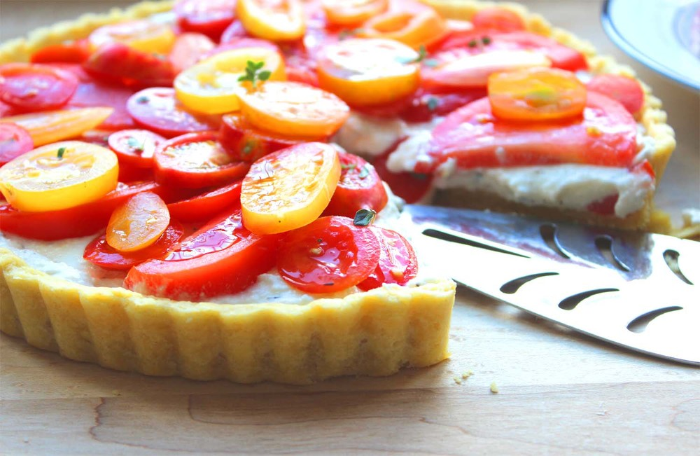Farmers Market Tomato and Ricotta Tart | Image: Laura Messersmith
