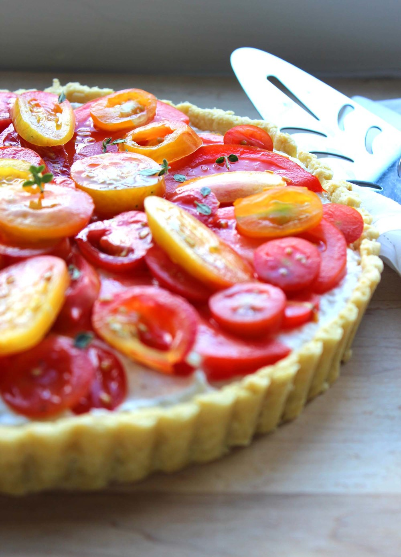 Farmers Market Tomato and Ricotta Tart| Image:Laura Messersmith