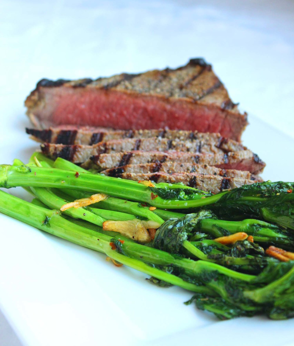 Mustard Marinated Flank Steak   | Image:   Laura Messersmith
