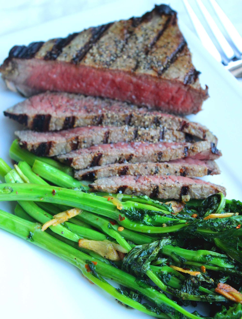 Mustard Marinated Flank Steak| Image:Laura Messersmith