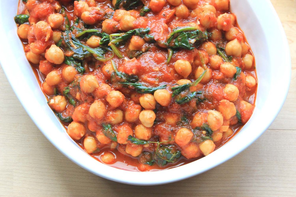 Chickpeas with Spinach  | Image:  Laura Messersmith