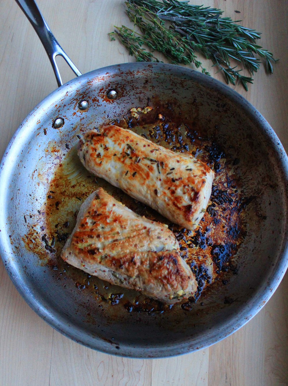 Herb Marinated Pork Loin   | Image:   Laura Messersmith