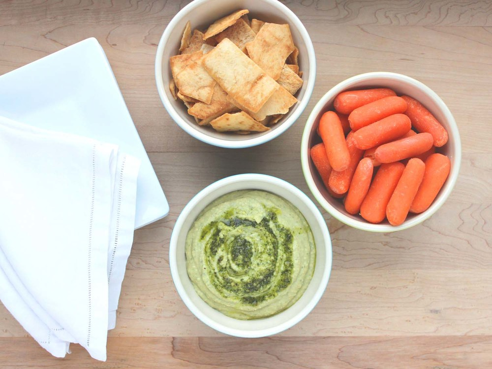 Pesto Greek Yogurt Hummus  | Image:  Laura Messersmith