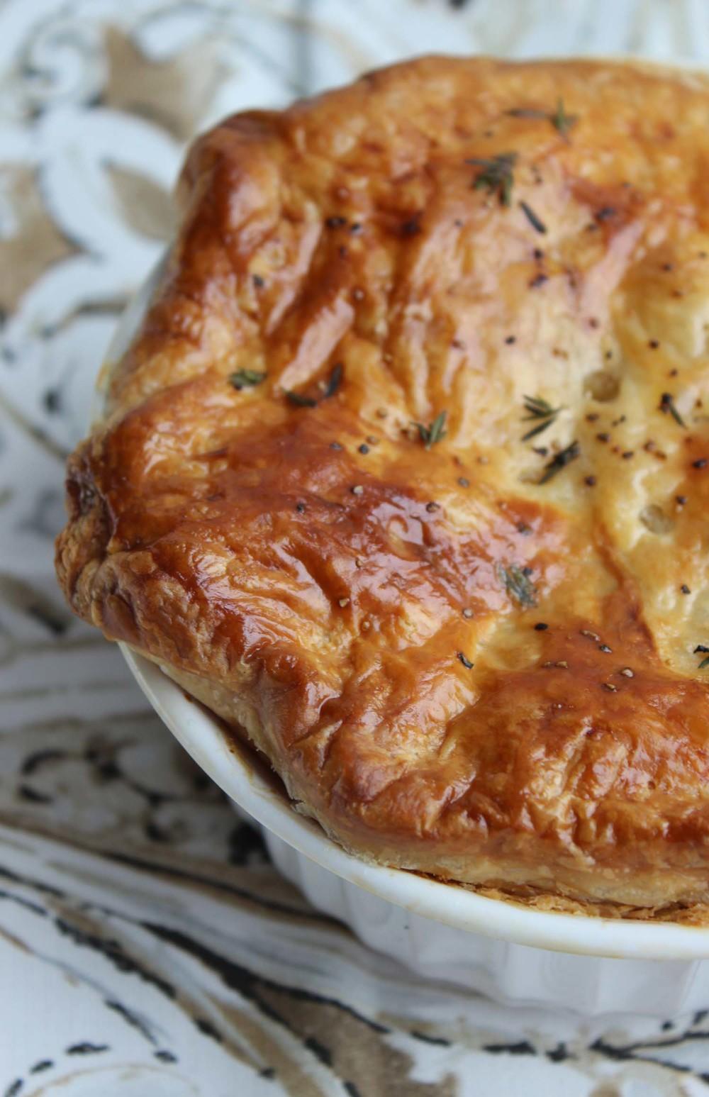 Thanksgiving Turkey Pot Pie| Image:Laura Messersmith