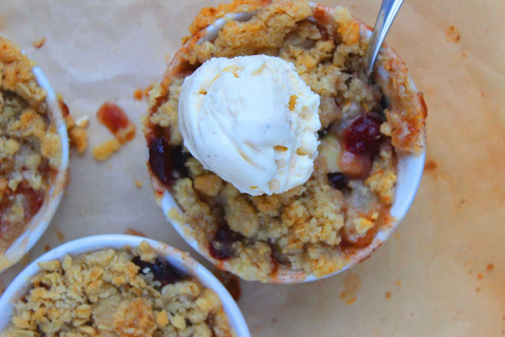 Pear Apple and Cranberry Crisp  | Image:  Laura Messersmith
