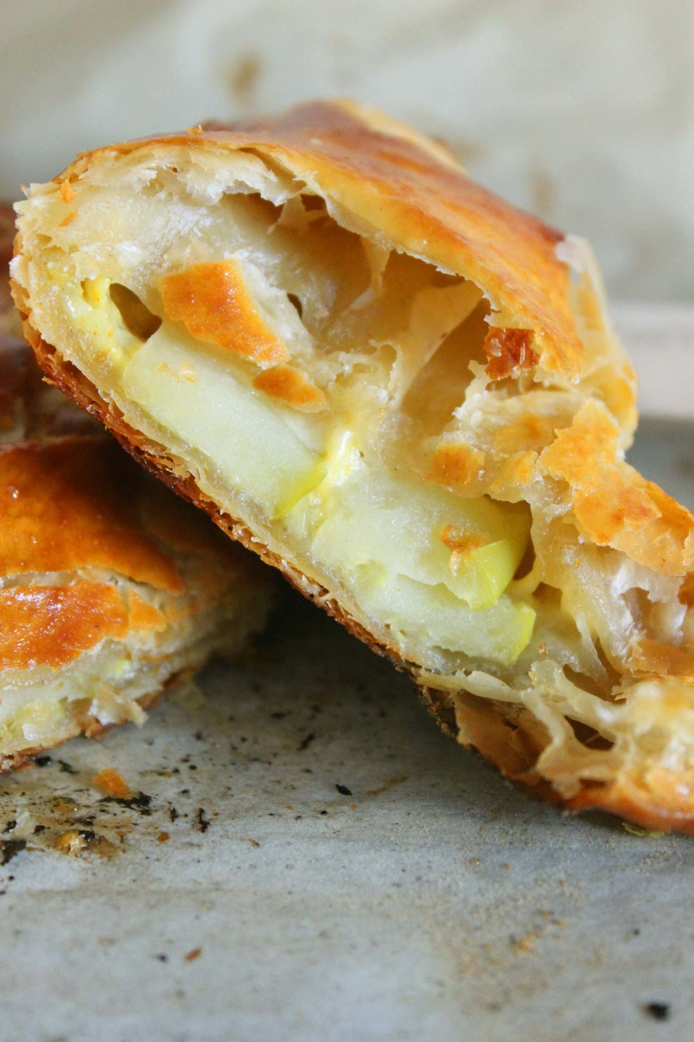 Granny Smith & Cheddar Hand Pies with Spicy Mustard | Image: Laura Messersmith