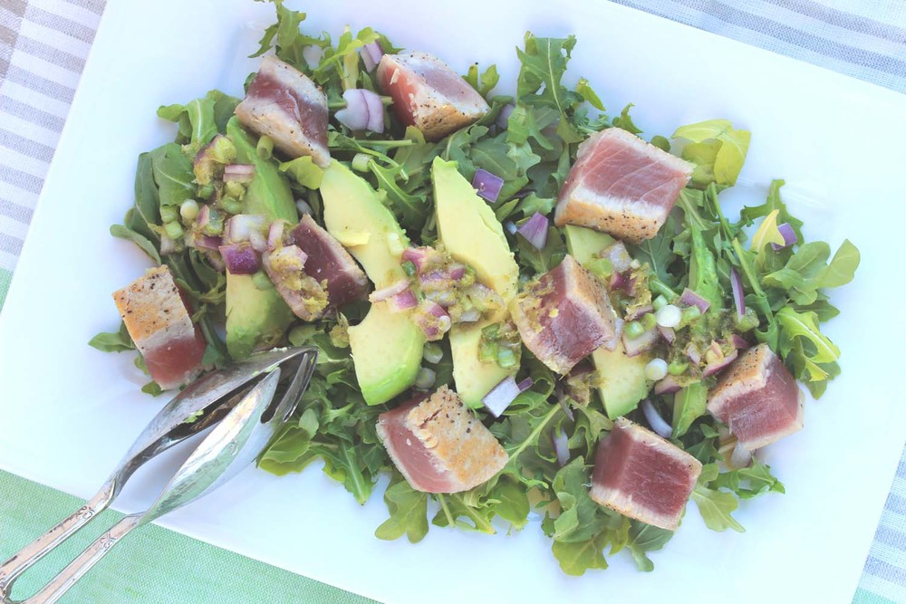 Grilled Tuna Roll (Salad) | Image: Laura Messersmith