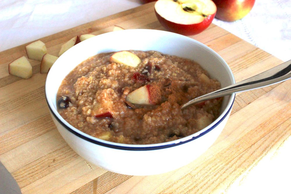 Cranberry Apple Steel-cut Oatmeal | Image: Laura Messersmith