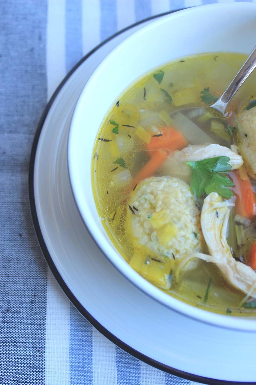 Chicken Soup with Matzo Balls | Image: Laura Messersmith