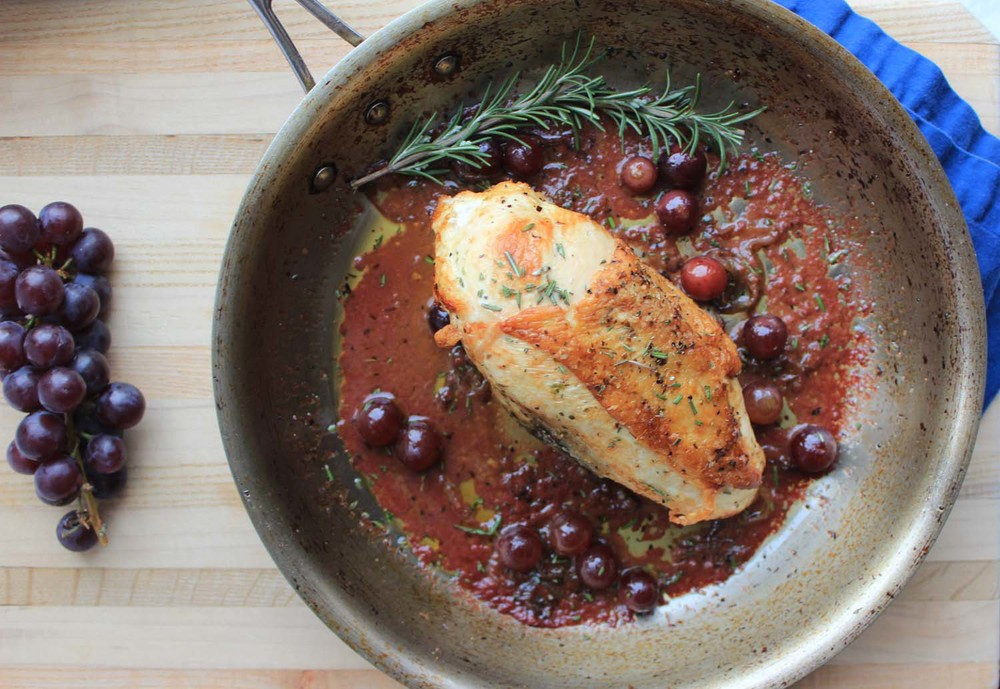 Chicken a la Vendemmia   | Image:  Laura Messersmith