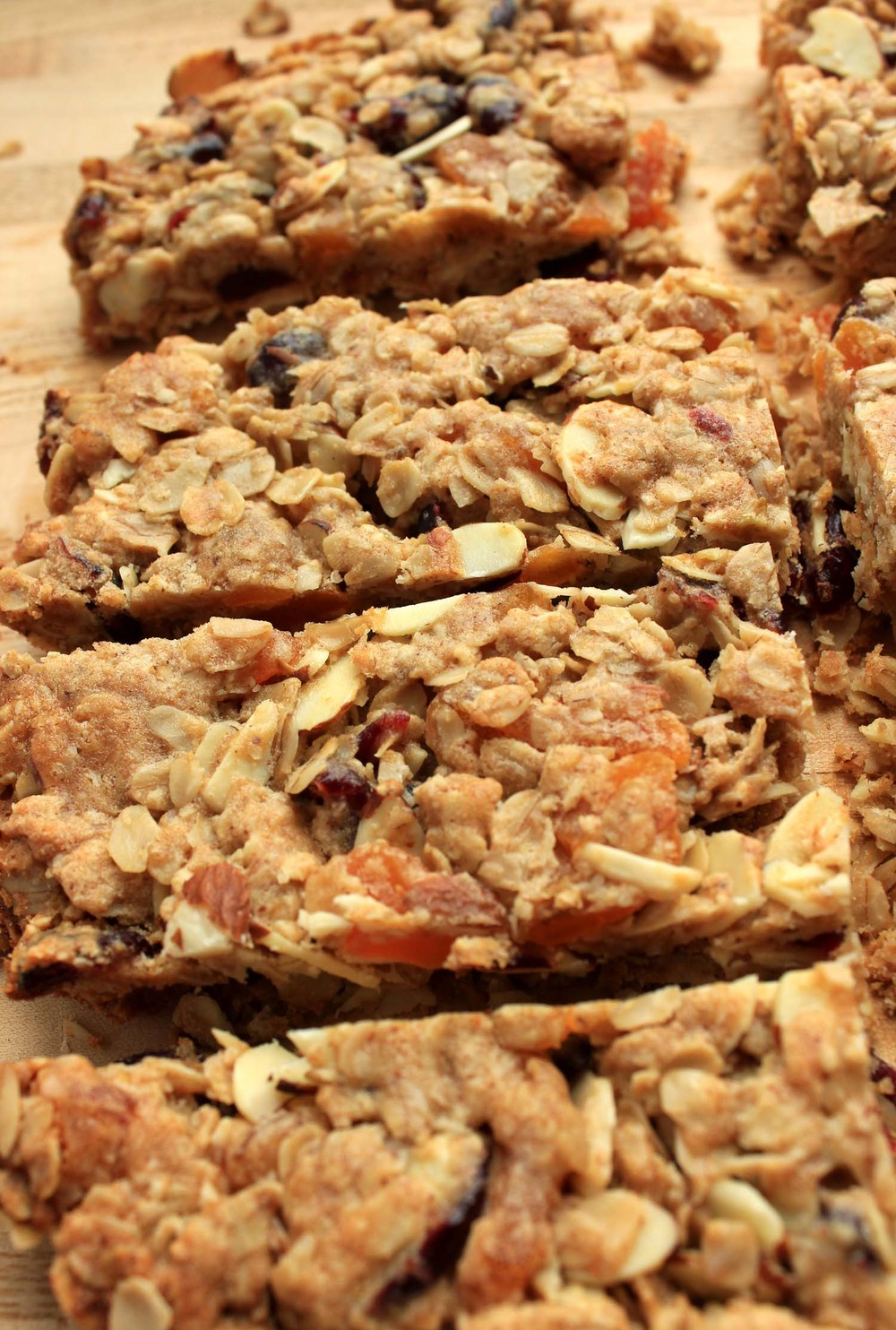 Cranberry Apricot Almond Granola Bars  | Image:  Laura Messersmith
