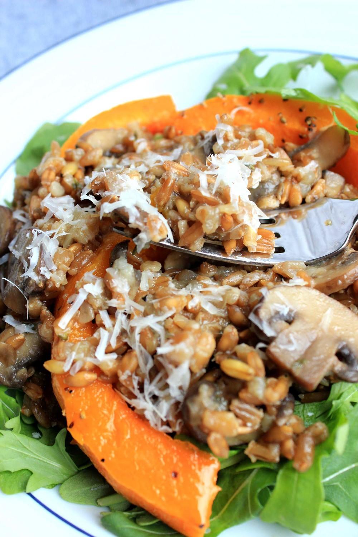 Mushroom Farro Risotto  | Image:  Laura Messersmith