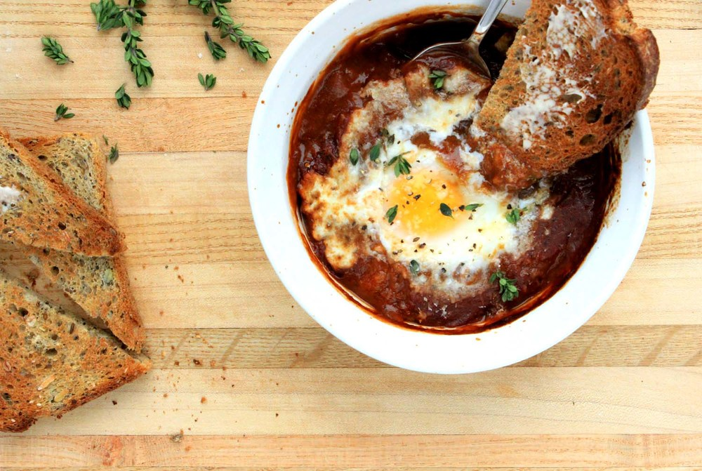 French Baked Eggs    | Image:   Laura Messersmith
