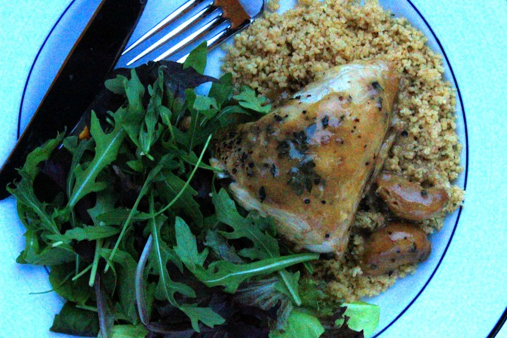 Chicken with Forty Cloves of Garlic   | Image:   Laura Messersmith