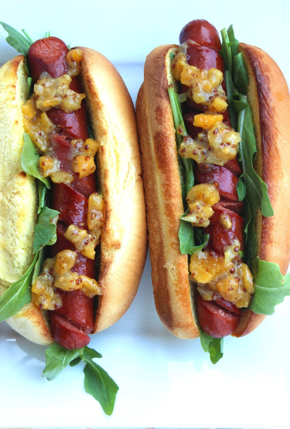 Apricot Mostarda & Spiralized Hotdogs  | Image:  Laura Messersmith