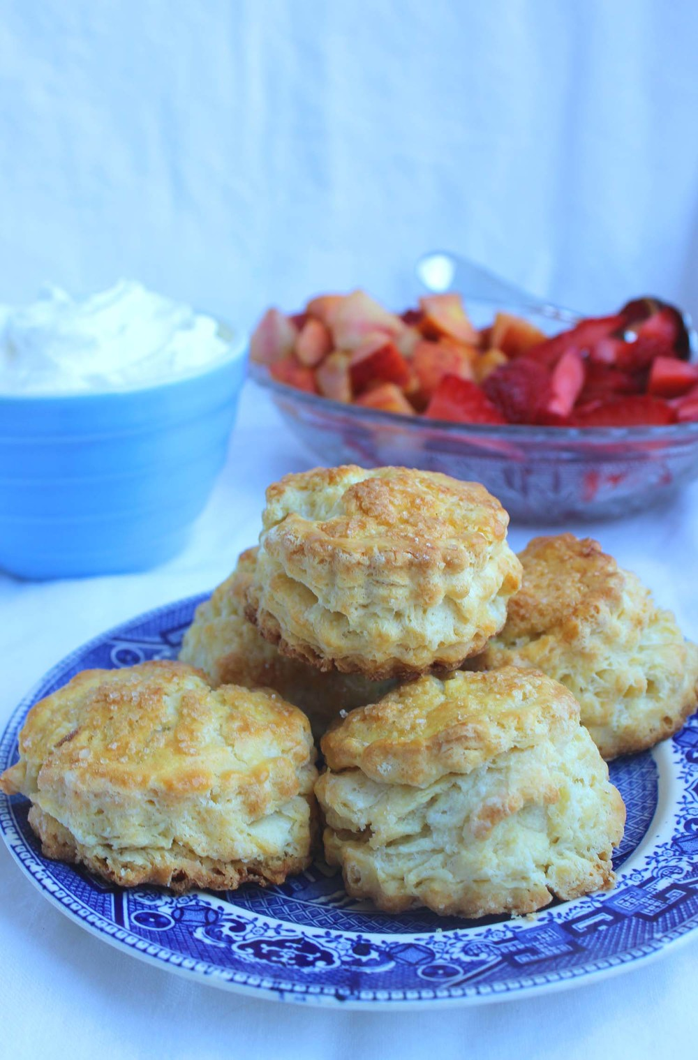Peach Strawberry Shortcakes   | Image:   Laura Messersmith