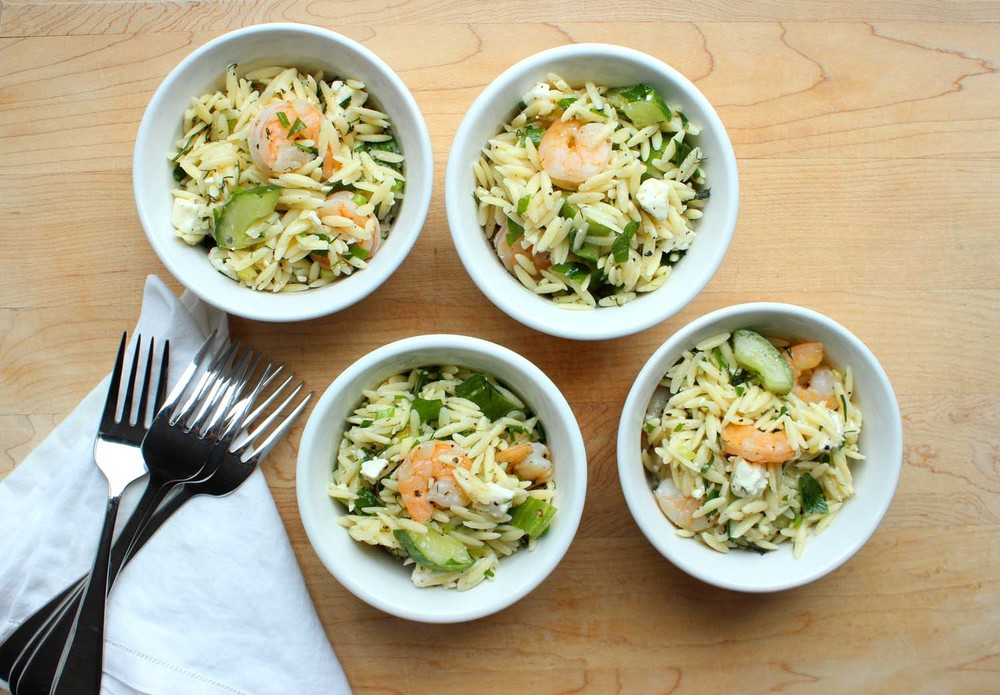 Roasted Shrimp, Feta & Orzo Salad  | Image:  Laura Messersmith
