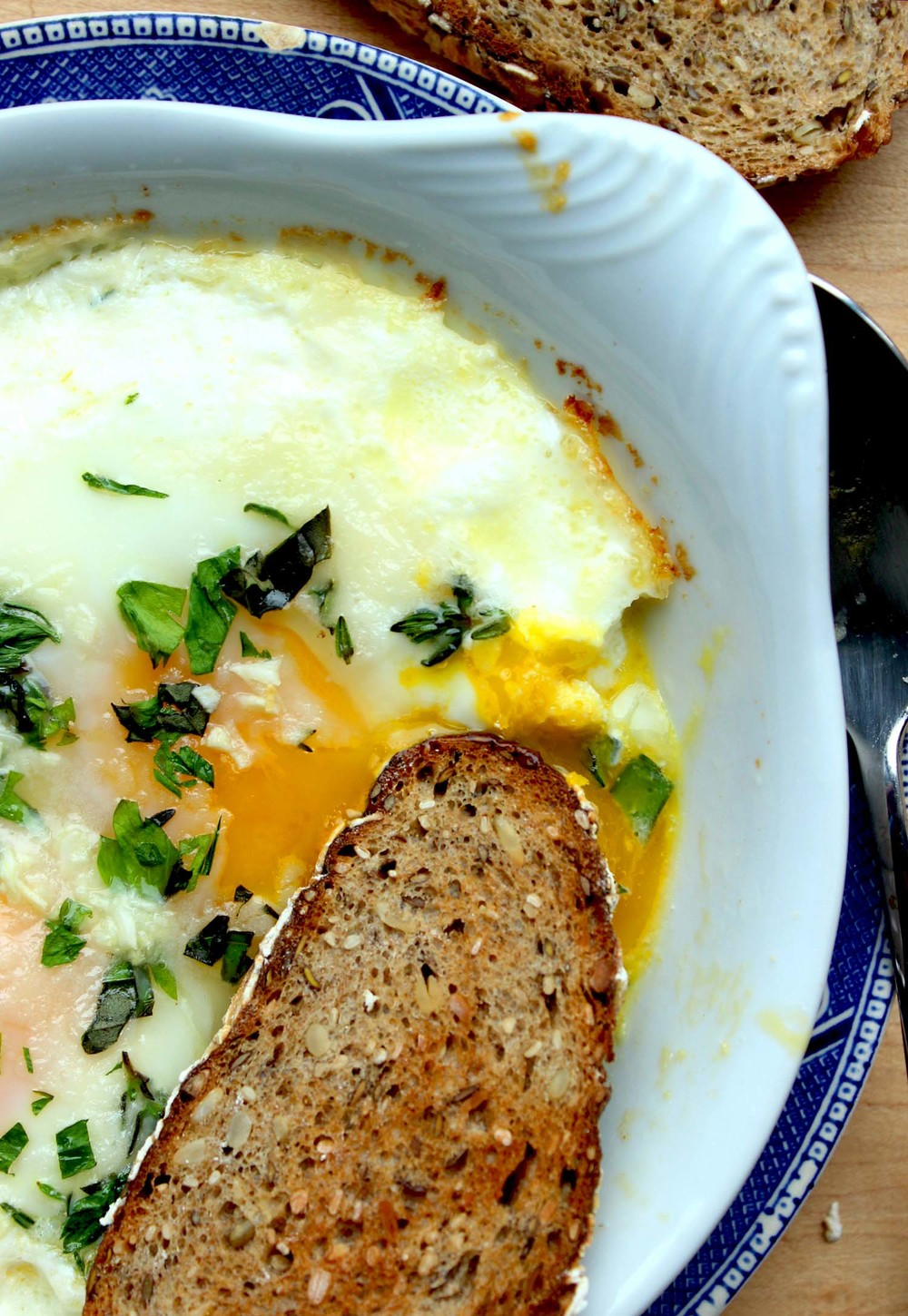 Herb Baked Eggs  | Image:  Laura Messersmith