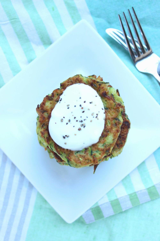 Zucchini Pancakes| Image:Laura Messersmith
