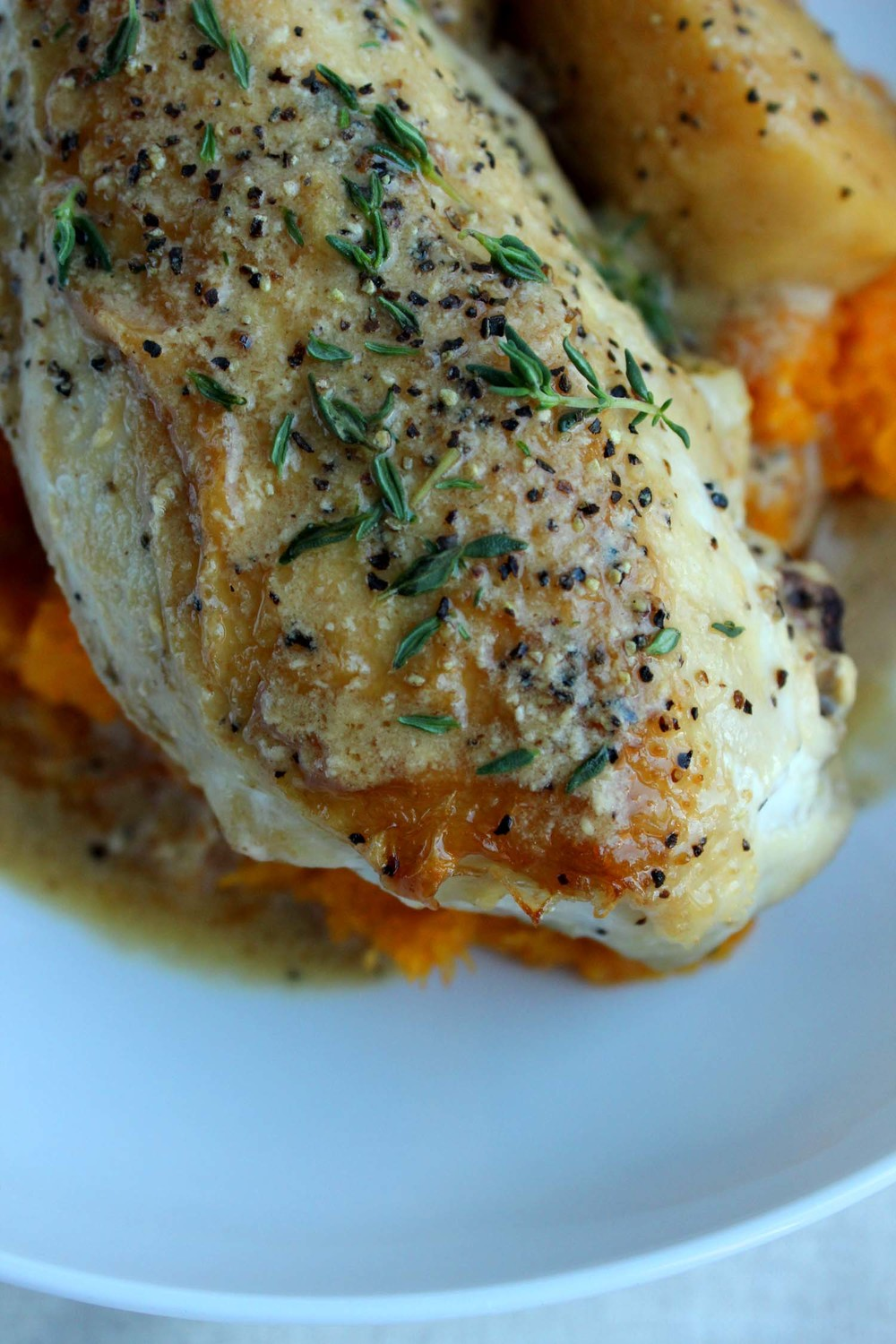 Cider Braised Chicken & Apples   | Image:   Laura Messersmith