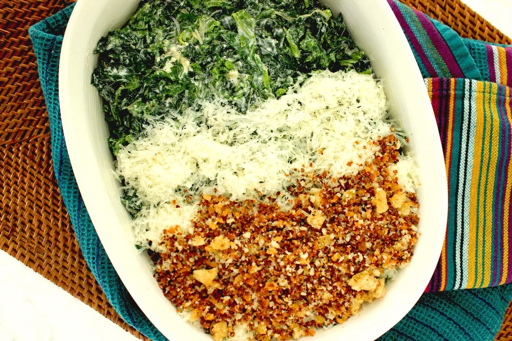 Winter Greens Gratin   | Image:   Laura Messersmith