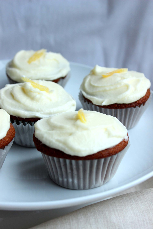 Lemon Ginger Molasses Cupcakes  | Image:  Laura Messersmith