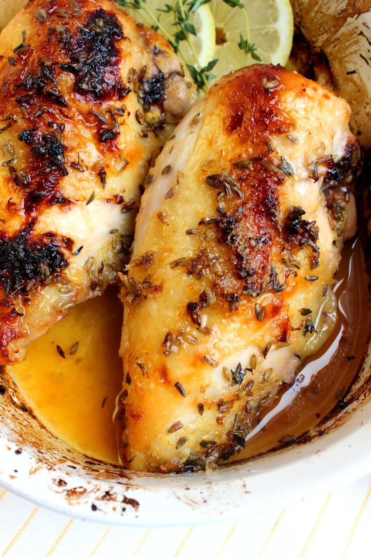 Provençal Lavender and Lemon Chicken| Image:Laura Messersmith