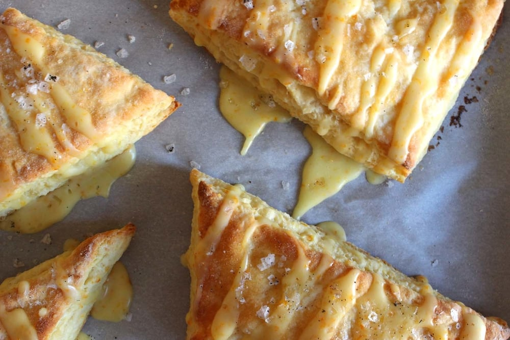 Orange Ricotta Scones with Vanilla Sea Salt   | Image:   Laura Messersmith