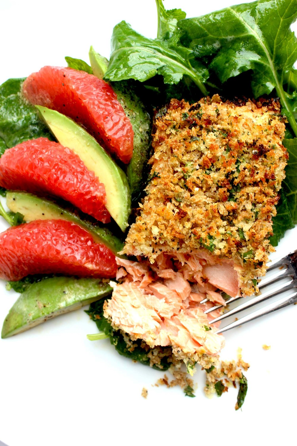 Panko Crusted Salmon | Image: Laura Messersmith