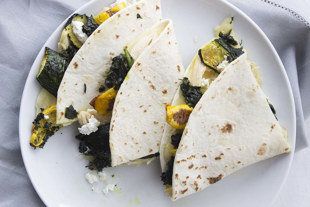 Summer Squash & Pesto Quesadilla | Image: Laura Messersmith
