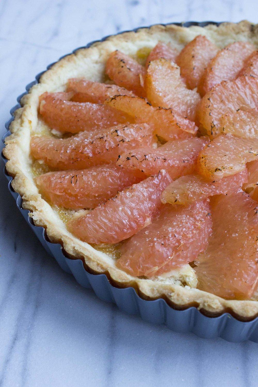 Bruléed Grapefruit Tart  | Image:  Laura Messersmith