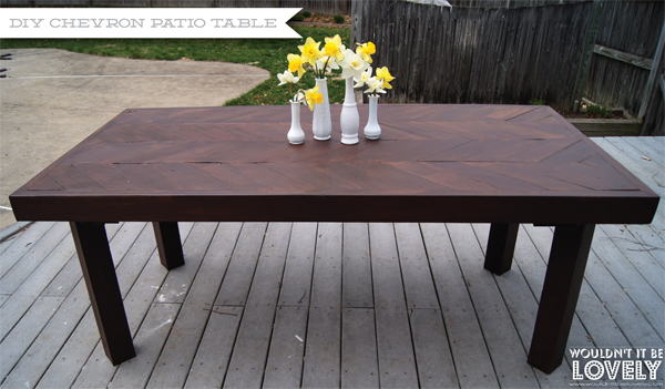 DIY Chevron Patio Table Wouldnt It Be Lovely