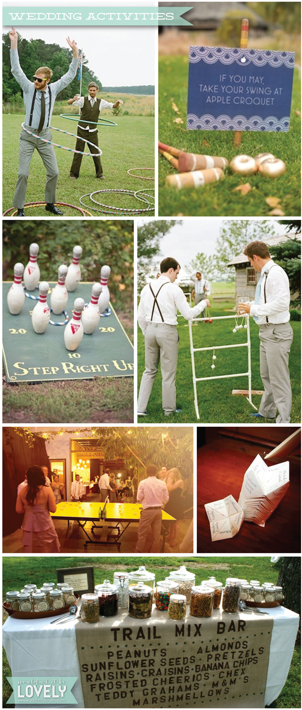 EVENTS Fun Wedding Actvities Wouldnt It Be Lovely