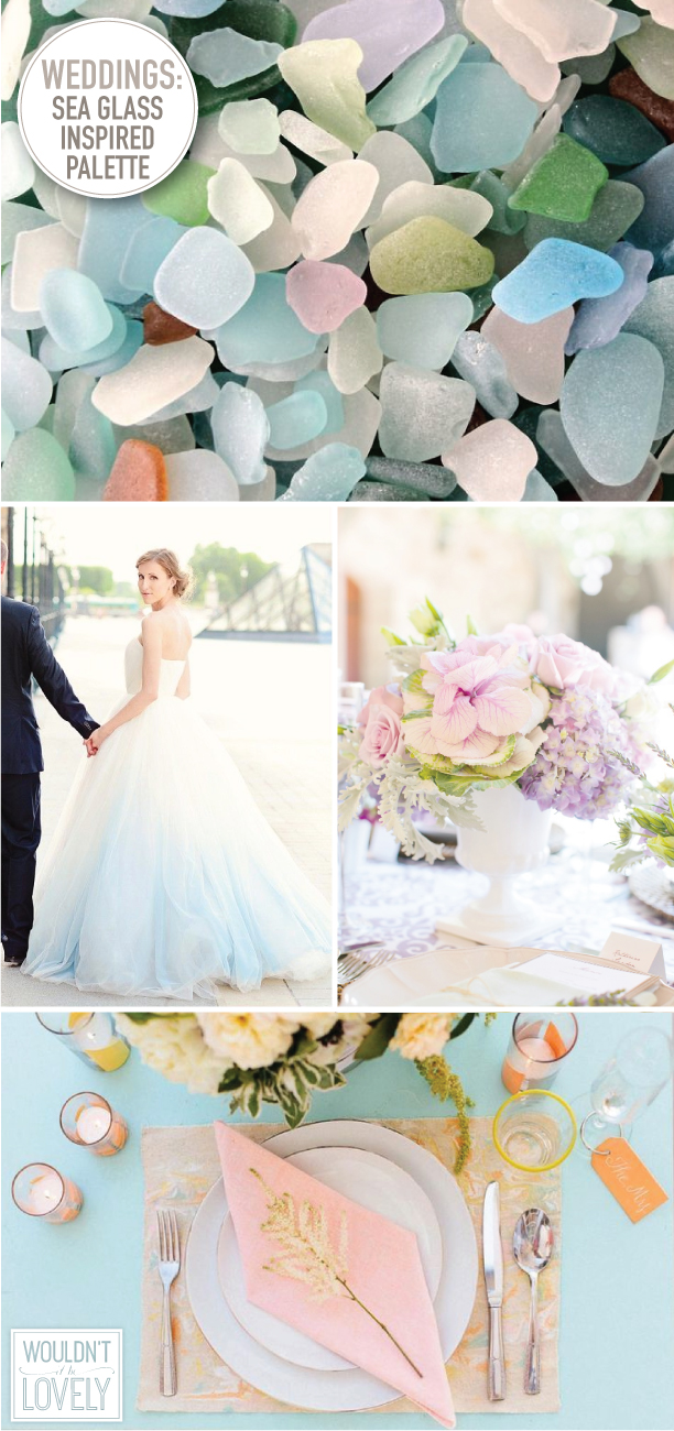a sea glass inspired wedding palette � wouldnt it be lovely