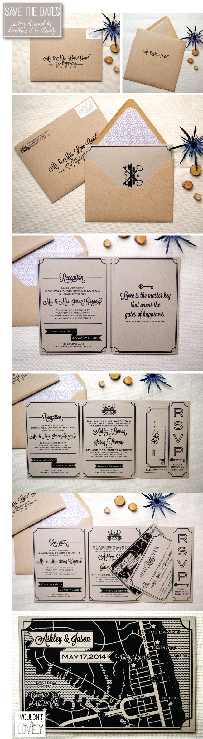 rustic southern wedding invitation