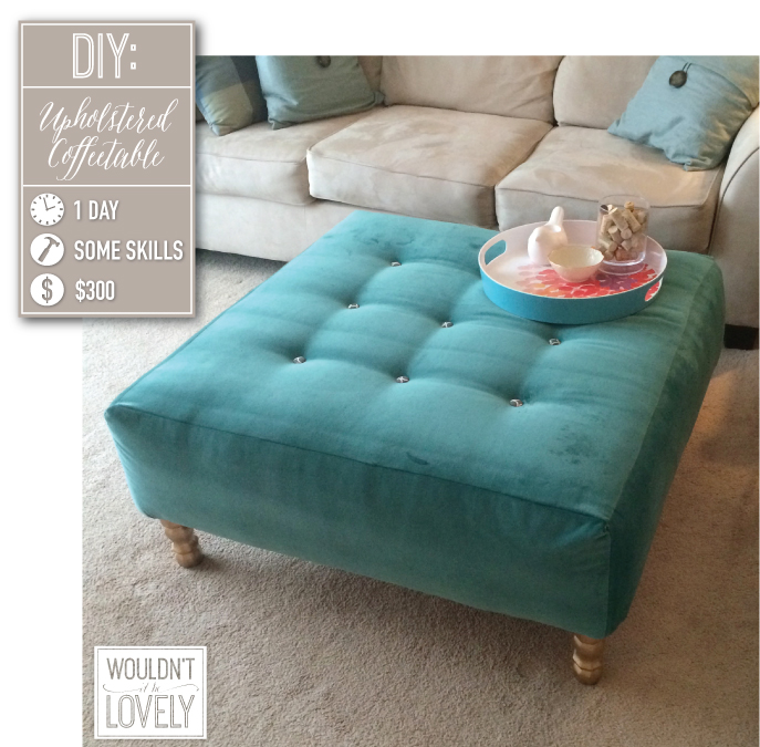 DIY Upholstered Ottoman — Wouldn't it be Lovely