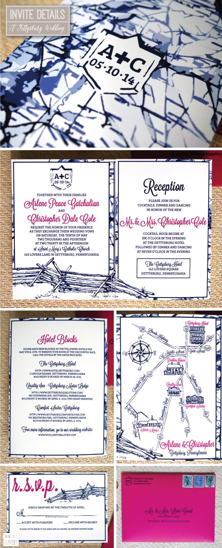 gettysburg pa wedding invitations