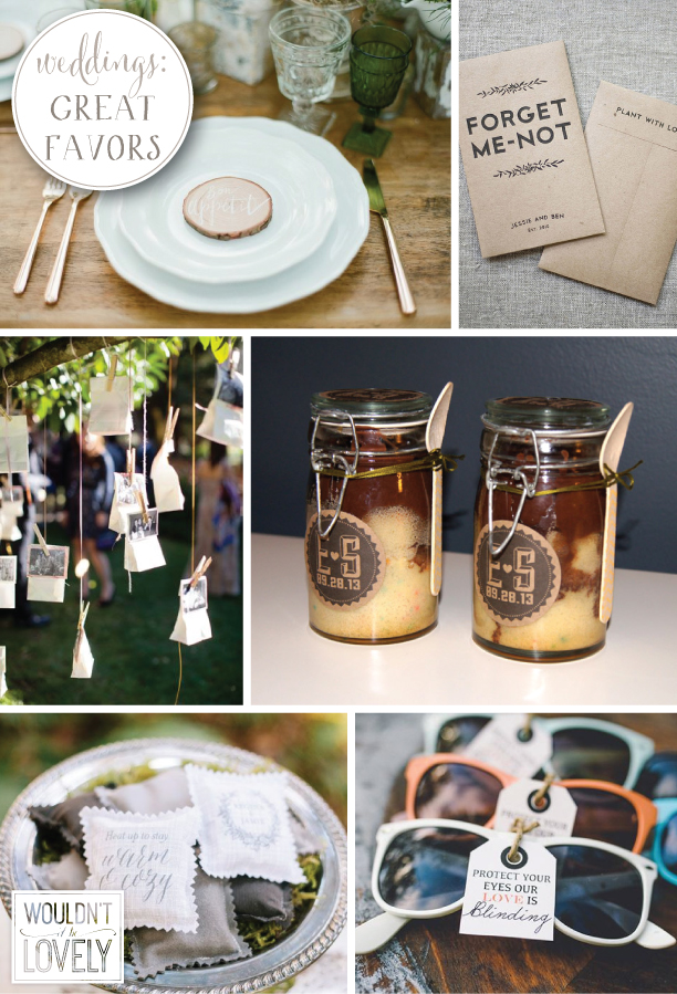 great wedding favors