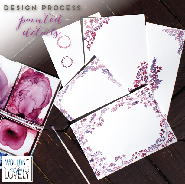 custom wedding invitation design process pic