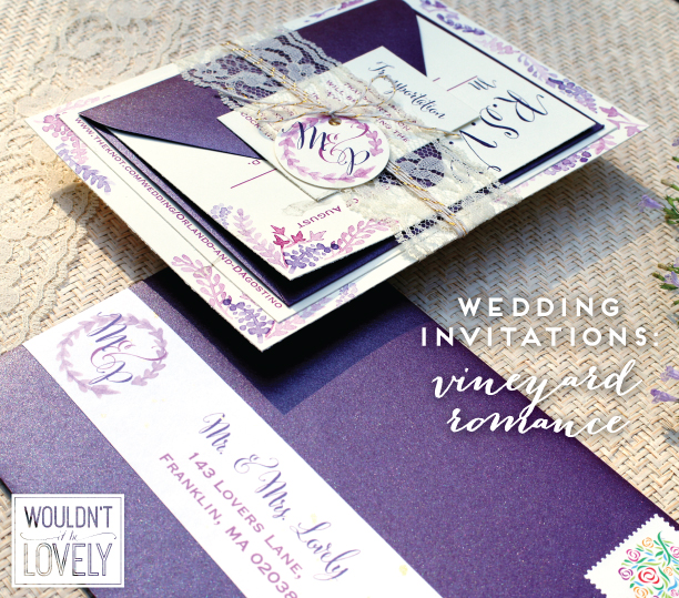 Romantic Vineyard Wedding Invitations