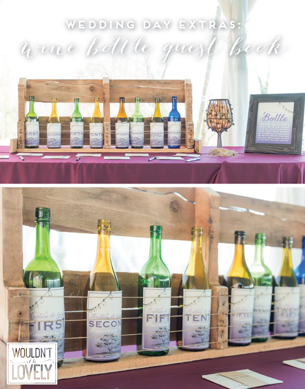 wine bottle wedding guest book labels