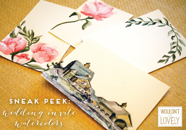 custom wedding watercolors