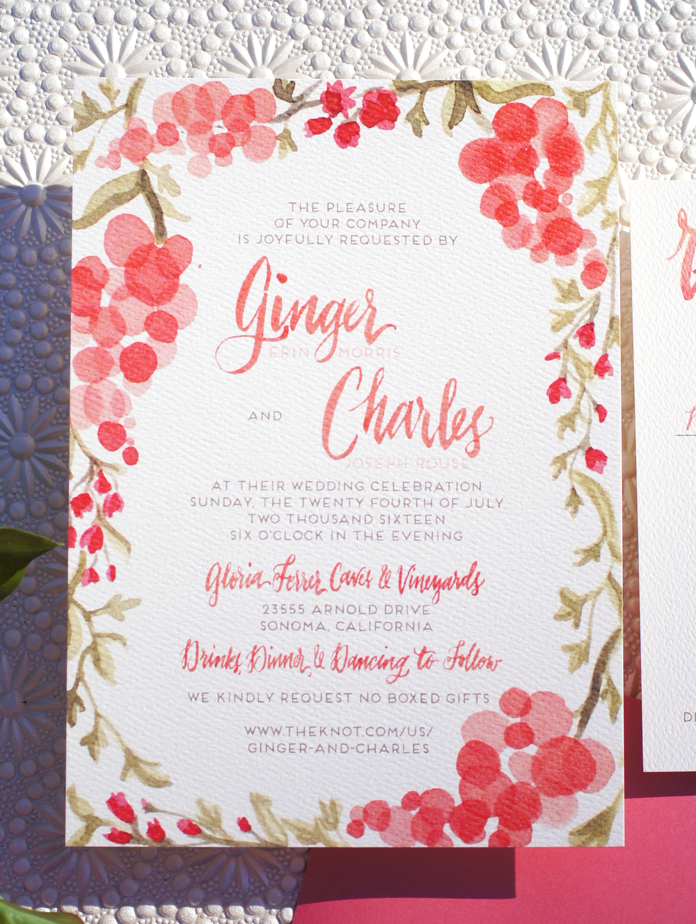Colorful Winery Wedding Invitations — Wouldn\'t it be Lovely