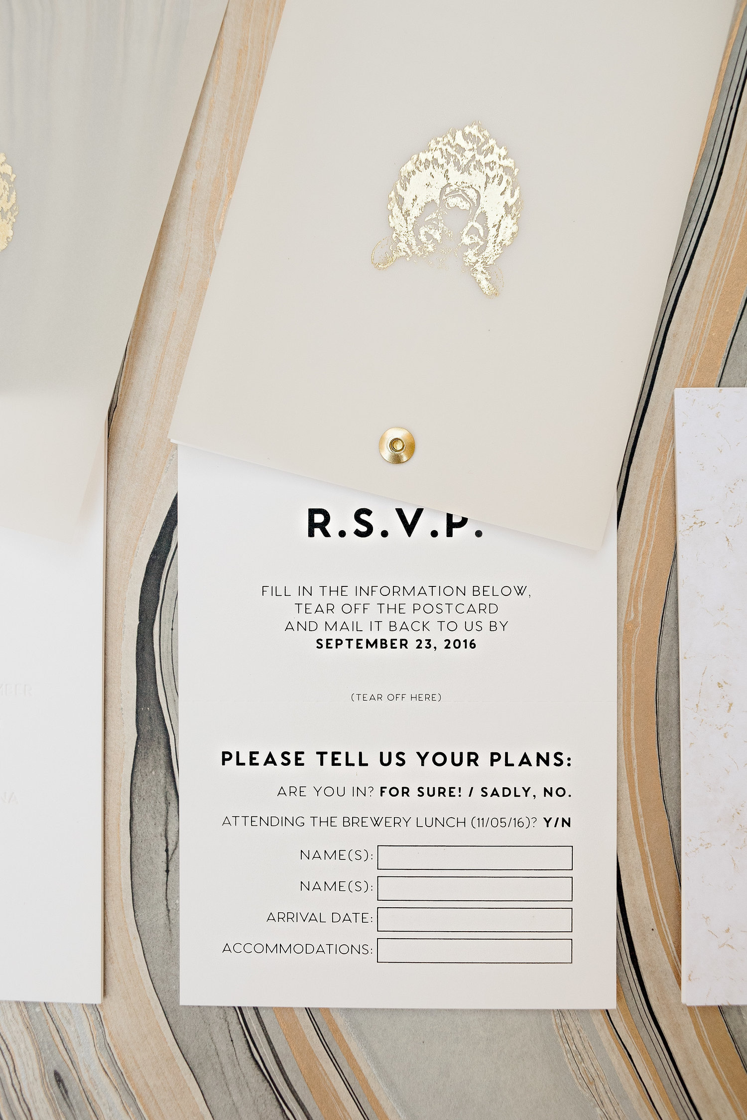 Bear Rotating Wedding Invitation — Wouldn\'t it be Lovely