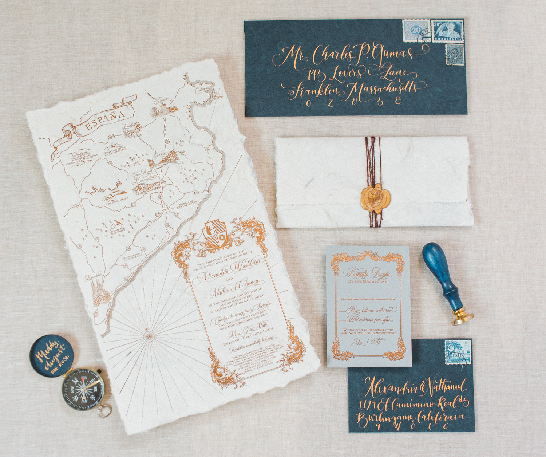 Foil & Letterpress Wedding Invitations — Wouldn\'t it be Lovely