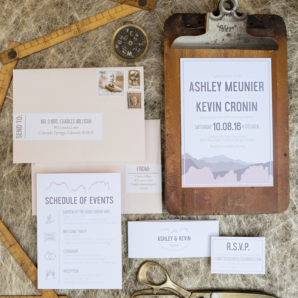 GRAPHIC MOUNTAIN Colorado Springs WEDDING INVITATIONS