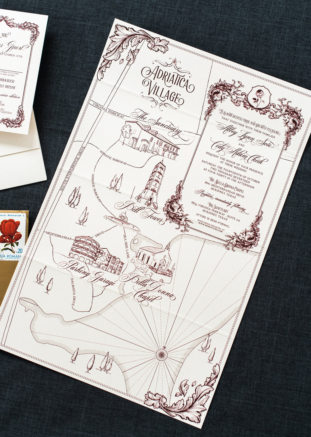 Adriatica Village Wedding Map