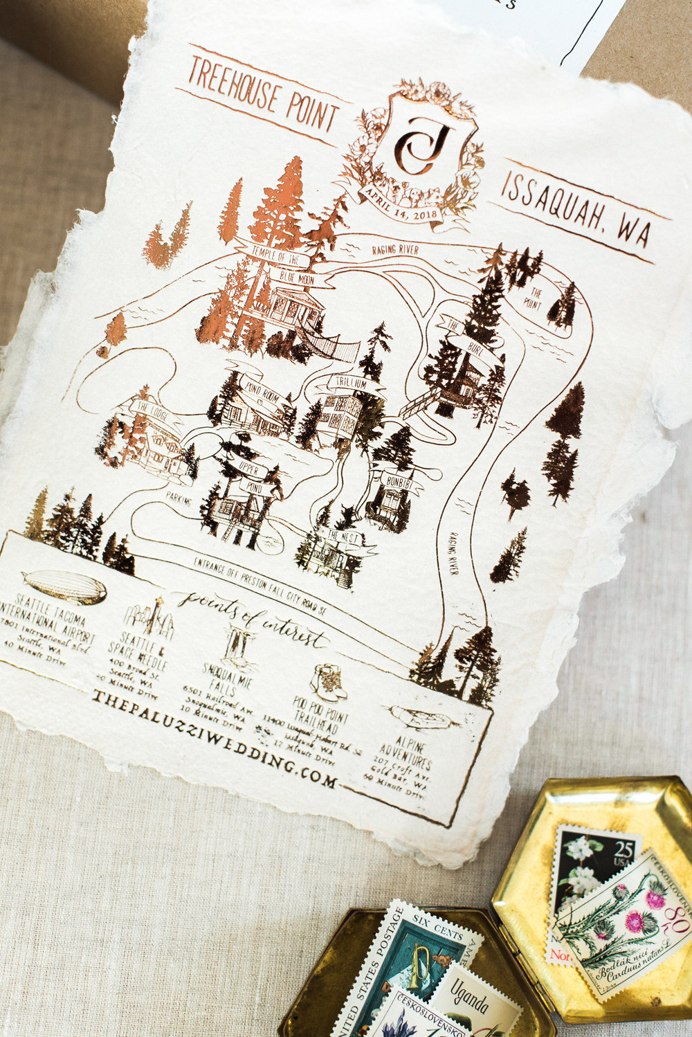 Issaquah, WA Treehouse Point Wedding Map